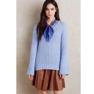 Anthropologie Moth Blue Bell Sleeve Sweater